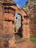 Ruins of jesuit missions san ignacio mini in misiones in argentina. Historic ruins of jesuit missions san ignacio mini in misiones in argentina Royalty Free Stock Image