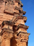 Ruins of jesuit missions san ignacio mini in misiones in argentina. Historic ruins of jesuit missions san ignacio mini in misiones in argentina Stock Photo
