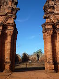 Ruins of jesuit missions san ignacio mini in misiones in argentina Royalty Free Stock Image