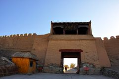 Ruins of jiayuguan city Stock Images