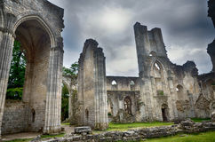 Ruins of Jumieges Abbey, France Royalty Free Stock Images
