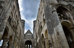 Ruins of Jumieges Abbey, France Stock Images