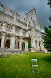 Ruins of Jumieges Abbey, France Royalty Free Stock Photo