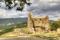 Ruins at the Jvari monastery near Mtskheta Royalty Free Stock Images