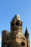 Ruins of Kaiser Wilhelm Church in Berlin. Ruins of Kaiser Wilhelm Memorial Church in Berlin destroyed by Allied bombing and preserved as memorial, Berlin Stock Photography