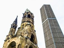 Bombed church, Berlin Stock Photography