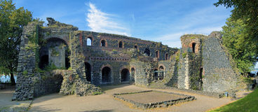 Ruins of Kaiserpfalz in Kaiserswerth district of D Stock Images