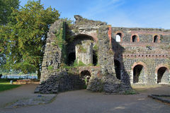 Ruins of Kaiserpfalz in Kaiserswerth district of Dusseldorf Royalty Free Stock Images