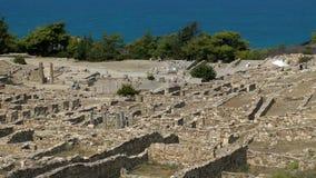 Ruins of Kamiros town stock video footage