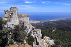 Kantara Castle - Turkish Republic of Northern Cyprus Royalty Free Stock Photos