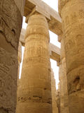 Ruins of Karnak template Luxor Egypt royalty free stock image