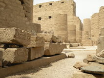 Ruins of Karnak Temple. A view of the remains of the ancient Egyptian Karnak Temple in Luxor , Egypt, Africa Stock Images