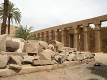 Ruins of Karnak Temple. Ancient ruins of Karnak Temple in Luxor, Egypt, Africa Stock Images