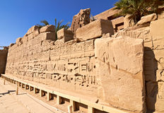 Ruins of the Karnak temple. In Luxor, Egypt Royalty Free Stock Photography