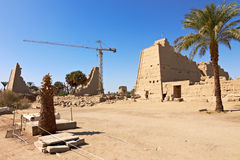 Ruins of the Karnak temple Stock Images