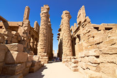 Ruins of the Karnak temple. In Luxor, Egypt stock photography