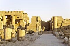Ruins in karnak temple Stock Images
