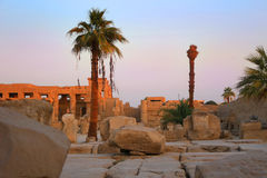 Ruins at Karnak Temple, Egypt Royalty Free Stock Photo