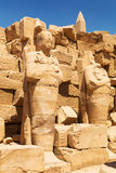 Ruins of Karnak temple in Luxor, Egypt. Ancient architecture of Karnak temple in Luxor, Egypt Stock Photography