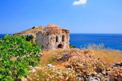 Ruins in Kastro, old metropolis of Skiathos, Stock Image
