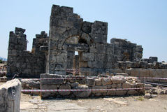 Ruins of Kaunos Stock Photos