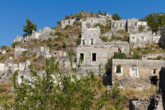 Ruins of Kayakoy, Fethiye Royalty Free Stock Photo
