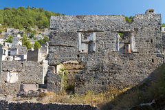 Ruins of Kayakoy, Fethiye Stock Photos