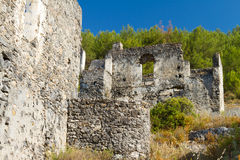 Ruins of Kayakoy, Fethiye Royalty Free Stock Image