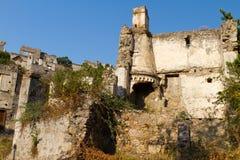 Ruins of Kayakoy, Fethiye Royalty Free Stock Photography