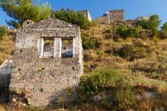 Ruins of Kayakoy, Fethiye Stock Photos