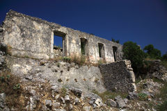 Ruins in Kefalonia Stock Photo