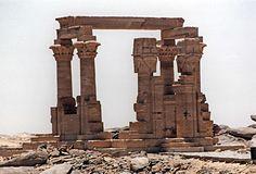 Qertassi kiosk. The ruins of the kertassi temple at kalabsha in south egypt Royalty Free Stock Photos
