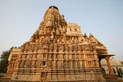 Ruins Khajuraho temple, india Stock Images