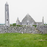 Ruins of Kilmacduagh Monastery Royalty Free Stock Photos