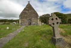 The ruins of Kilmalkedar church in Kerry in Ireland. Stock Photo