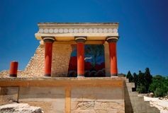 Ruins in Knossos. The best known ruins in Crete Stock Photos