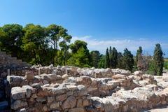 Ruins Knossos Palace, Crete, Greece Stock Photos