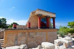 Ruins Knossos Palace, Crete, Greece royalty free stock photo