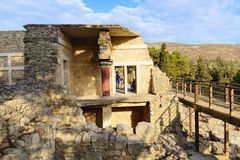 Ruins of Knossos palace. Crete, Greece Stock Photos