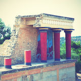 Ruins of The Knossos Palace Royalty Free Stock Image