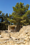 The ruins of Knossos Palace (Palace of the Minotaur) on Crete. Royalty Free Stock Photography