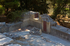 The ruins of Knossos Palace (Palace of the Minotaur) on Crete. Stock Image