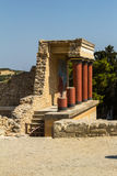 The ruins of Knossos Palace (Palace of the Minotaur) on Crete. Royalty Free Stock Image