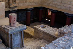 The ruins of Knossos Palace (Palace of the Minotaur) on Crete. Stock Photos