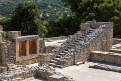 The ruins of Knossos Palace (Palace of the Minotaur) on Crete. Royalty Free Stock Photo