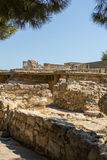 The ruins of Knossos Palace (Palace of the Minotaur) on Crete. Stock Photography
