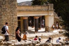 Ruins of Knossos Palace, south of Heraklion - very popular amon Royalty Free Stock Image
