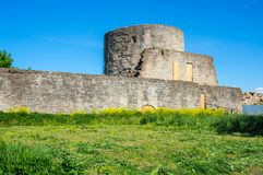 Ruins of Koporye fortress Stock Images