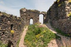 Ruins of the Kostalov Castle Stock Photography