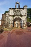 Ruins of the Kota A Famosa Portuguese Fortress in Malacca Royalty Free Stock Image